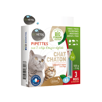 Biovetol Pipettes Chat/Chaton