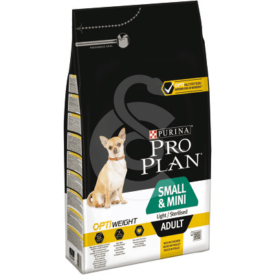 Dog Small&Mini Adult Light Sterilised Optiweight Poulet