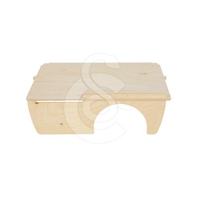 Etage en bois avec niche pour cages Nevo