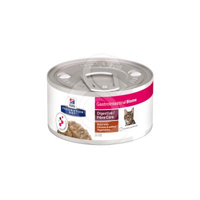 Feline Gastrointestinal Biome Mijotés Poulet & Légumes Boîte