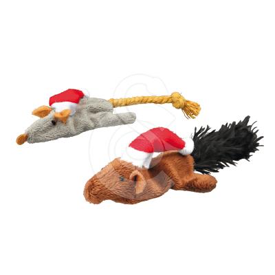 Jouet de Noël pour chat : Lot de 2 peluches