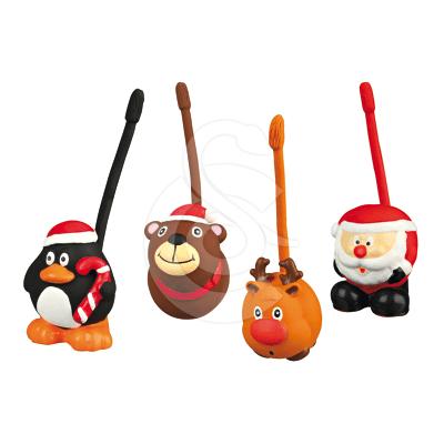 Jouet Noël chien : Lot de 4 jouets en latex