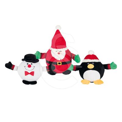 Jouet Noël chien : Lot de 3 peluches balles
