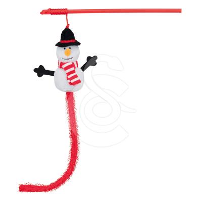 Jouet Noël chat : Lot de 6 cannes à pêche Bonhomme de neige