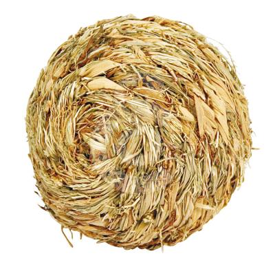 Jouet rongeur : balle en herbe séchée