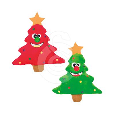Jouet Noël chien : 6 arbres de Noël en peluche