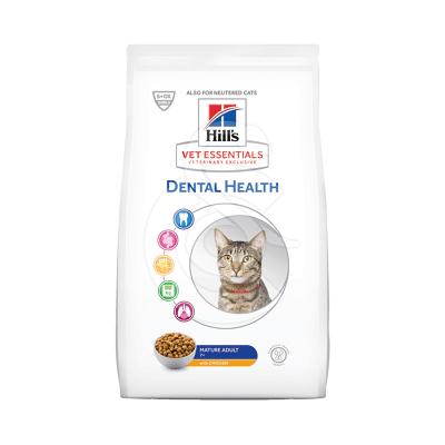 Vetessentials Feline Mature Dental Health Poulet