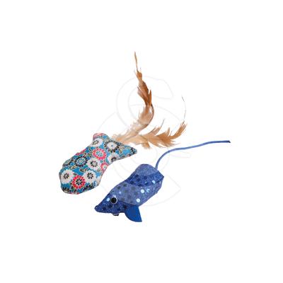 Jouet chat Wouapy : poisson à plumes et souris