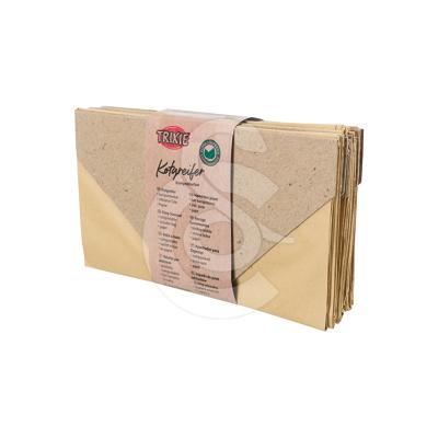 Sac à déjections en papier cartonné biodégradable