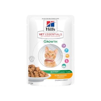Vet Essentials Feline Kitten Growth Poulet Sachet repas